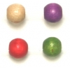 Wooden Bead Round 6mm Multi